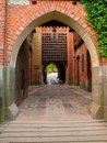 Medieval castle gate Royalty Free Stock Photo