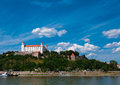 Medieval castle on the hill against the sky bratislava slovakia Stock Photos