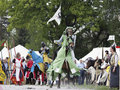 Medieval Castle Knights tournament Stock Image