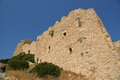 Medieval castle of kritinia in rhodes greece dodecanese on a hill m above the village northern there are the Royalty Free Stock Photos