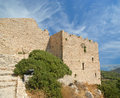 Medieval castle of kritinia in rhodes greece dodecanese on a hill m above the village northern there are the Royalty Free Stock Photography