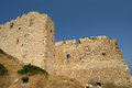 Medieval castle of kritinia in rhodes greece dodecanese on a hill m above the village northern there are the Royalty Free Stock Image