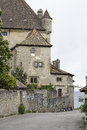 Medieval castle by the lake in Yvoire, France Royalty Free Stock Photo
