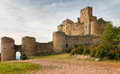 Medieval castle of loarre spain aragon Stock Photos