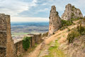 Medieval castle of loarre spain aragon Royalty Free Stock Photography
