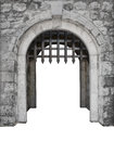 Medieval castle main enter or gate Royalty Free Stock Photo