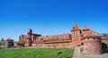 Medieval castle in malbork poland panorama landscape with Royalty Free Stock Photos