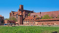 Medieval castle in malbork of teutonic knights poland Royalty Free Stock Photography