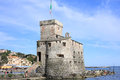 Medieval castle in Rapallo, Italy Royalty Free Stock Photo