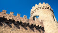 Medieval castle tower and walls Royalty Free Stock Photo