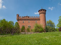 Medieval castle turin the in parco del valentino italy Stock Images
