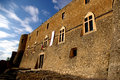 Medieval castle view of a of capestrano abruzzo italy Stock Images