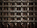 Medieval castle wall or metal gate Royalty Free Stock Photo