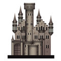 Medieval castle on white background Royalty Free Stock Photos