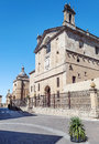 Medieval cathedral of ciudad rodrigo street spanish city we see the santa maria aside it is an image vertically on a sunny day Stock Photos