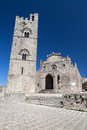 Medieval catholic church in erice sicily chiesa matrice Royalty Free Stock Images