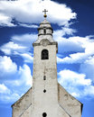 Medieval catholic church from transylvania Stock Photos