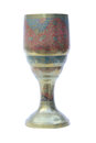Medieval chalice chlice on white background Royalty Free Stock Photography