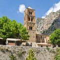 Medieval church france in moustier sainte marie gorges of verdon Royalty Free Stock Photography