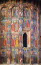 Medieval church fresco exterior mural painting from the th century orthodox moldovita Royalty Free Stock Images