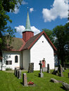 The medieval church at Haslum in Norway Stock Photos