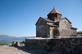 Medieval church on Sevan lake, Armenia Royalty Free Stock Photo