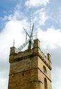 Medieval Church Tower Stock Photo