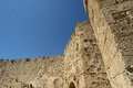 Medieval city walls in Rhodes town Stock Photography