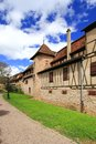 Medieval city walls of Riquewihr, Alsace, France Stock Photography