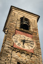 Medieval clock tower Royalty Free Stock Photo