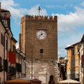 Medieval Clock Tower in Mestre near Venice - Italy Royalty Free Stock Photo