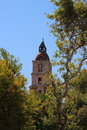 Medieval clock tower in Rhodes, Greece Royalty Free Stock Photo