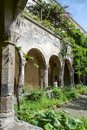 Medieval cloister in sorrento ancient gothic called chiostro di san francesco xiiith century Stock Photography