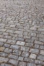 Medieval cobblestones background a street with Stock Photography