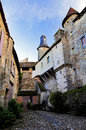 Medieval cobles turrets and towers saint benoit du sault indre france benoît benoît is a french village Royalty Free Stock Photo