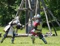 Medieval Combat Head shot Royalty Free Stock Photo