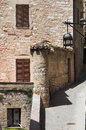 Medieval corner in assisi italy Royalty Free Stock Photos