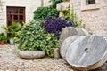 Medieval Courtyard, Trogir, Croatia Royalty Free Stock Photo