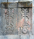 Medieval cross stones,armenia Royalty Free Stock Photo
