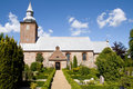 Medieval danish church Royalty Free Stock Photo