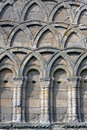 Medieval decorated arch at Wenlock Priory, England Royalty Free Stock Images