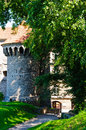 Medieval defense tower tallinn estonia Royalty Free Stock Photo