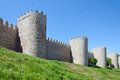 Medieval defensive walls avila city in spain considered the best preserved in europe Stock Photography