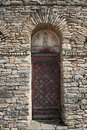 Medieval door in Cremieu Stock Photography