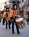 Medieval drummers band Royalty Free Stock Images