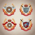 Medieval emblem insignia Royalty Free Stock Photo