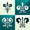 Medieval emblem ornament Royalty Free Stock Photo