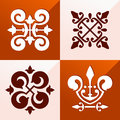 Medieval emblem ornament classic for various purpose such as pattern and background Stock Photography
