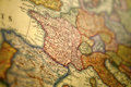 Medieval Europe Map - Germany Royalty Free Stock Photo
