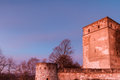 Medieval fairy tale castle giechburg in the franconian swiss of bavaria germany picture was taken late december morning Royalty Free Stock Images